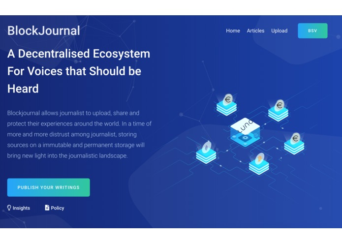 block jounral hackathon