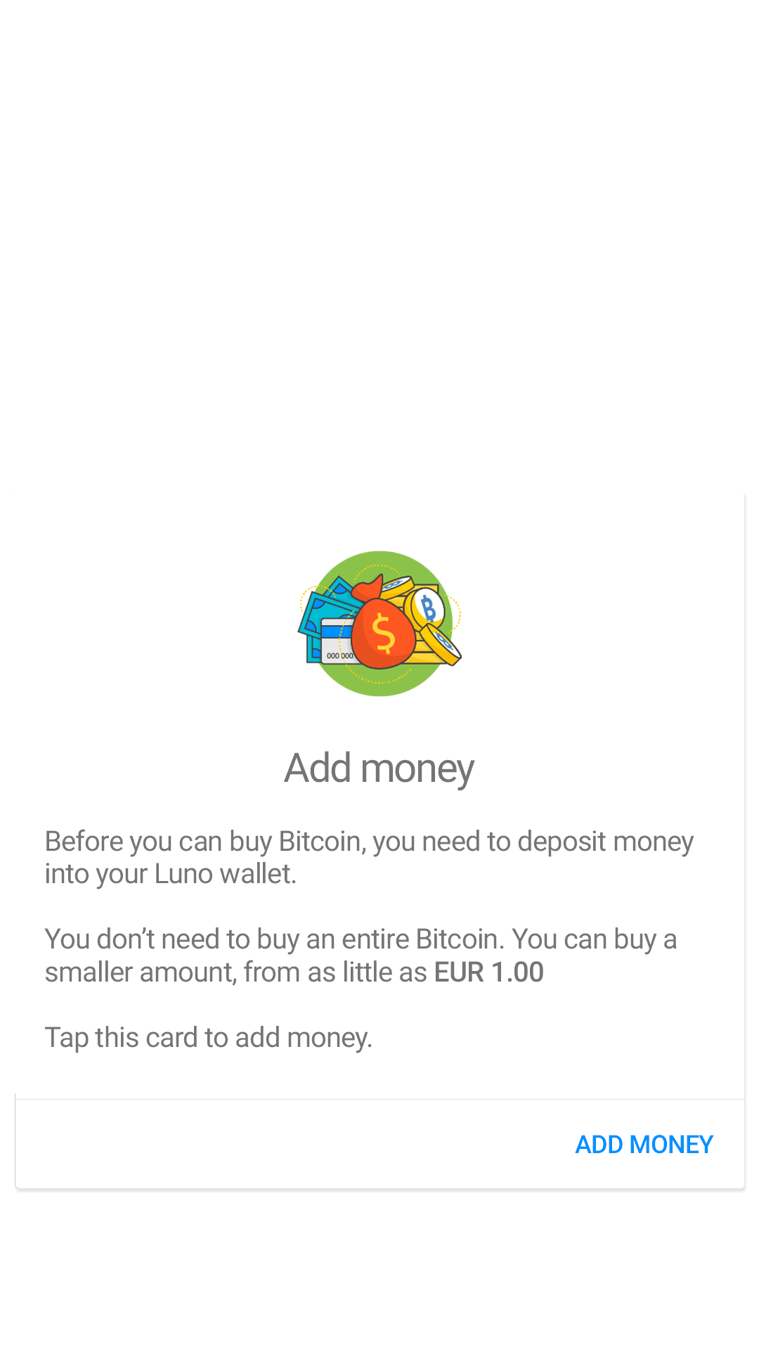 Screenshot of Luno App Sign Up