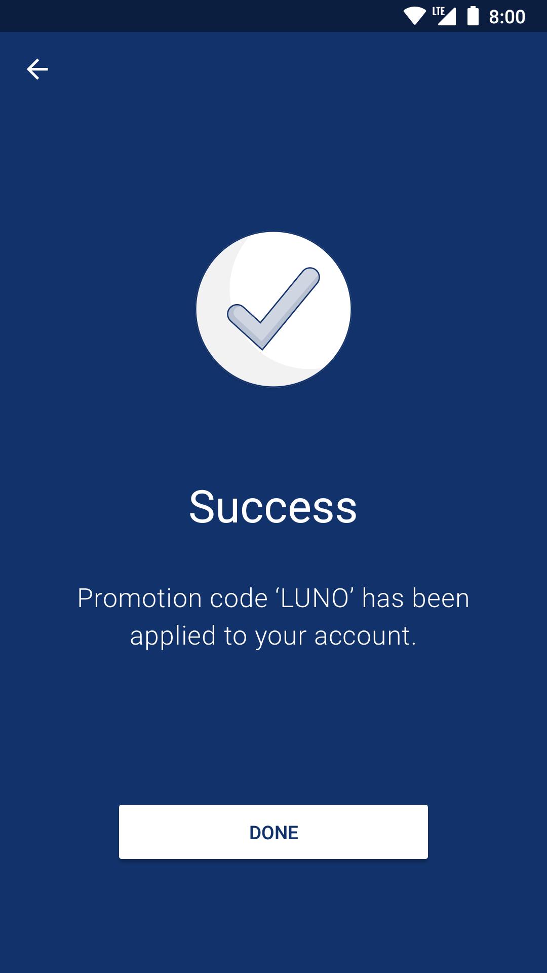 Screenshot of Luno App Redeem Code