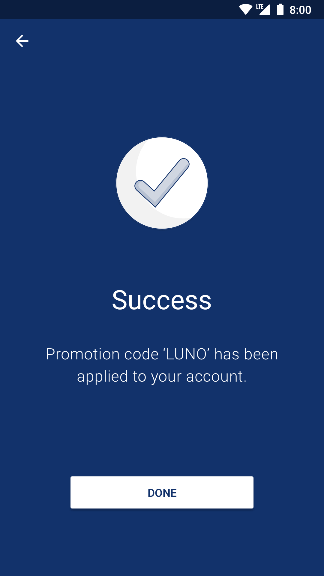 Screenshot of Luno App Redeem Code
