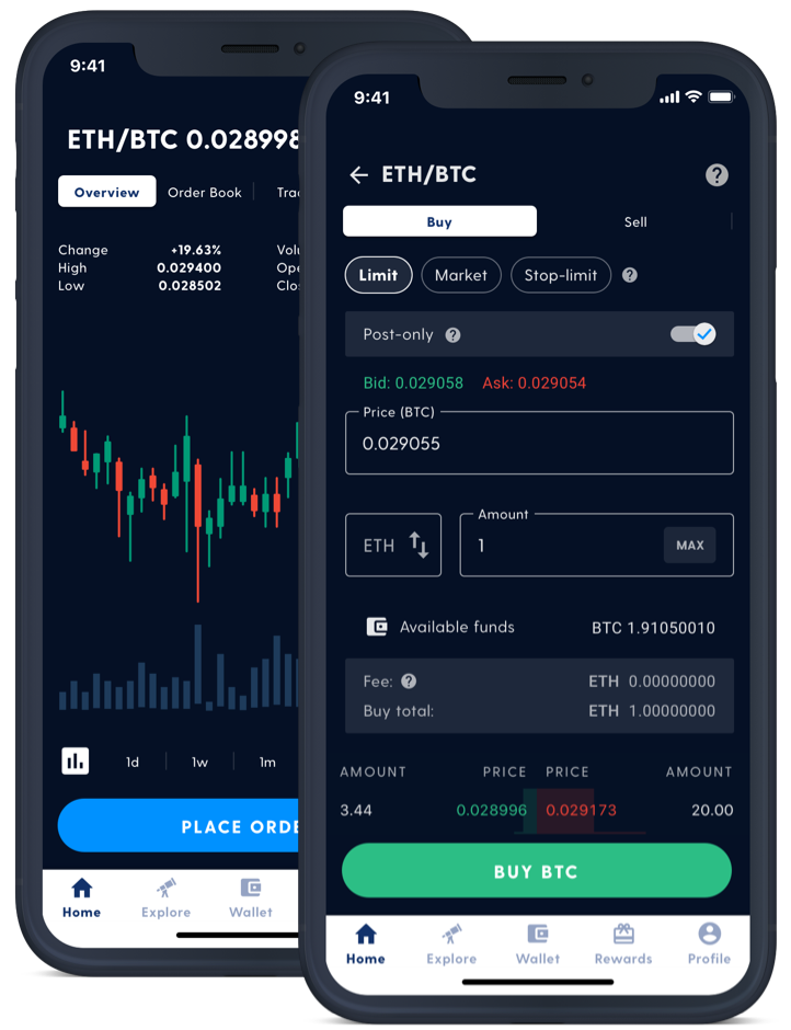 screenshot of Luno exchange