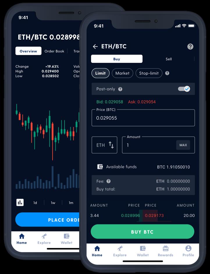 screenshot of Luno exchange